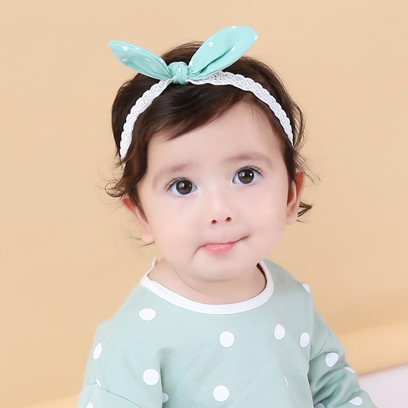 Toddler Newborn Baby Girl Polka Dot Bow Headband Elastic Hair Accessory Headwear