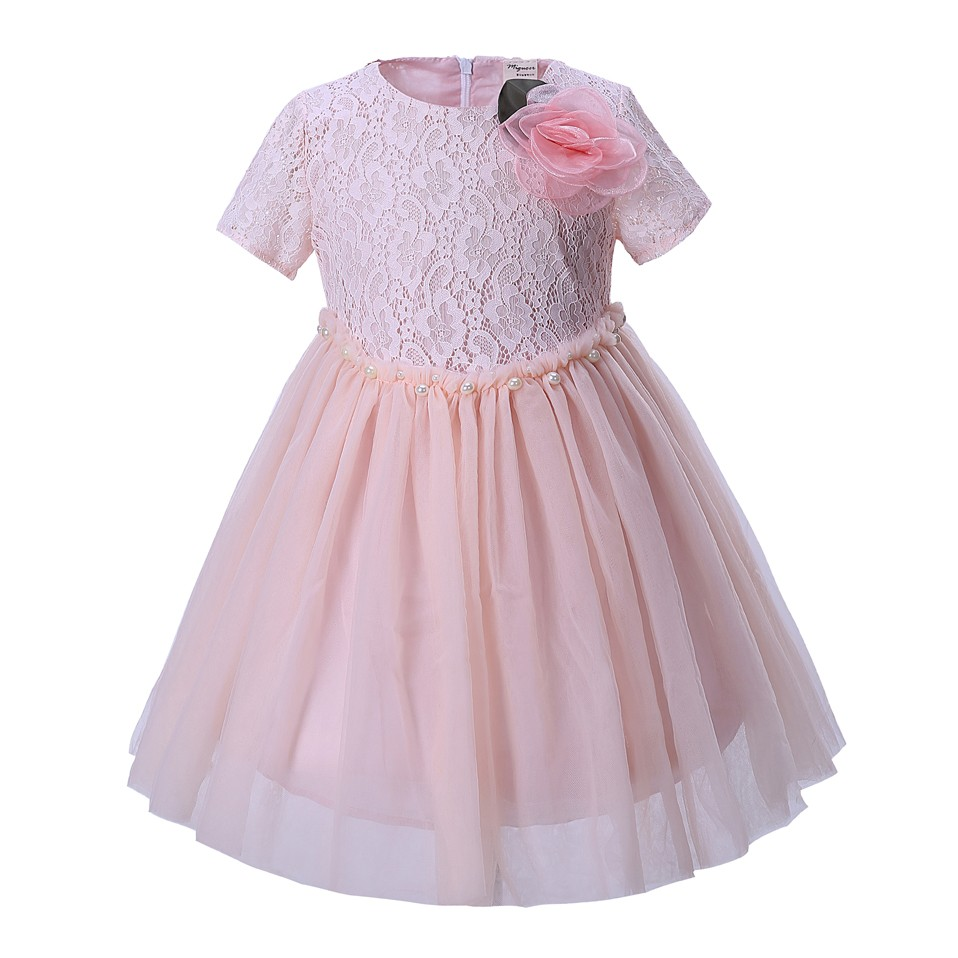 Mareya Trade Cutestyles Adorable Floral Girl Wedding Party Dress Apricot Girls Dresses Boutique Baby Girl Clothes,Special Occasion Wedding Guest Dresses 2020
