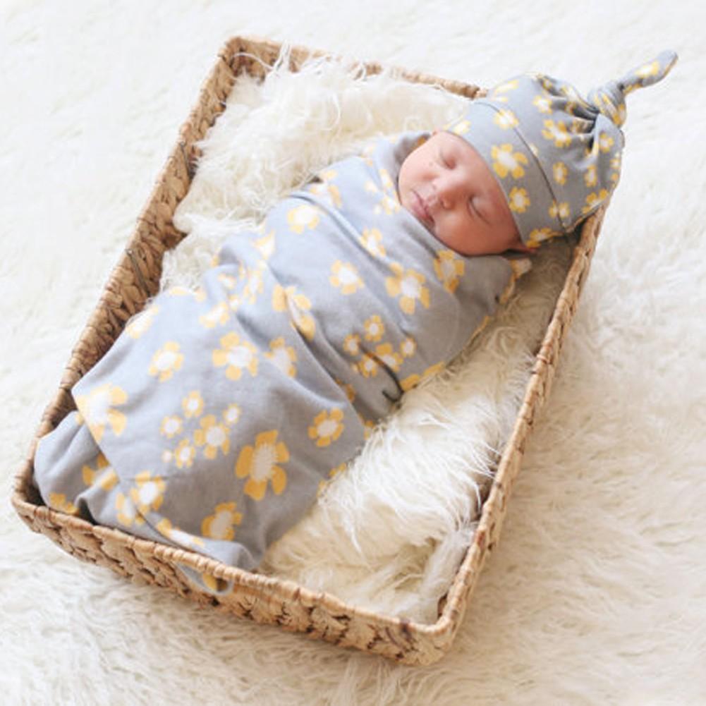 Newborn Baby Kids Swaddle Wrap Sleeping Bag Child Soft Warm Sleeping Bag Bedding